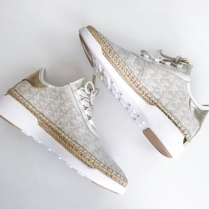 Michael Kors Finch Sneakers Ivory/Gold